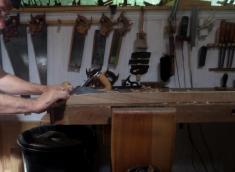 Preparando pata con bastrén.
