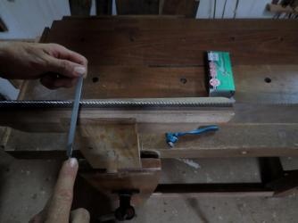 Afilado sierra de bastidor