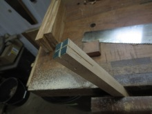 Las piezas para las incrustaciones de arce
