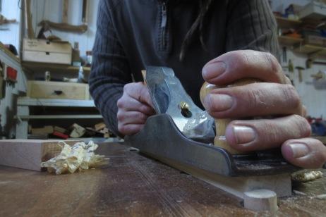 Cepillando piezas