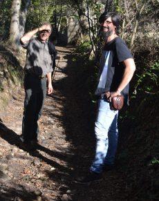 Talking a walk around my village.