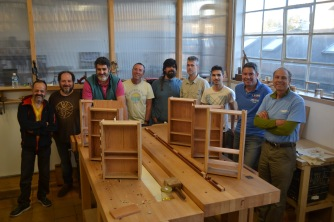 The second workshop. Making a cherry cabinet.