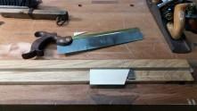 Preparando piezas para el cajón
