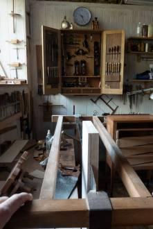 Chapa realizada a mano en arce rizado